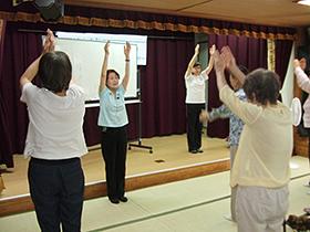 6/21 パンジー学園② 体験「生命の貯蓄体操」
