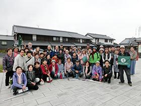 今井町蘇武橋公園で記念写真
