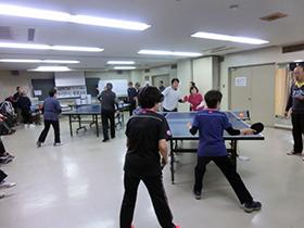 第9回東成区老人福祉センター館長杯 ラージボール卓球大会